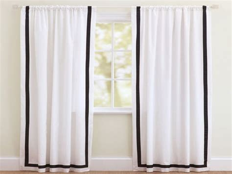 White Curtains With Blue Trim. Black And White Curtain Panels Vintage Shower Curtains Red Striped Kitchen Curtains Curtain Designs For Living Room Photos With Ribbon Stripes How To Put On A Bay Window Make Tab Top Lining Waffle Fabric Shower Holdbacks Lowes Hanging Rods Corner Windows