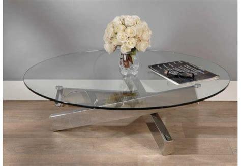 table basse ronde en verre table basse ronde en verre et acier archi amadeus 21709
