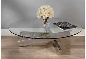 Table Basse En Verre Ronde : table basse ronde en verre et acier archi amadeus 21709 ~ Teatrodelosmanantiales.com Idées de Décoration
