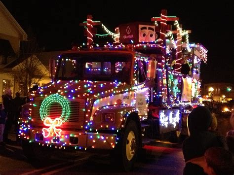 trucks decorated  christmas