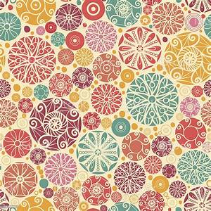 decor colorful circles seamless pattern background stock
