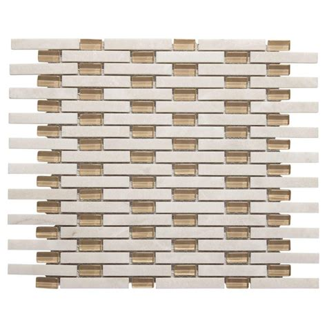 jeffrey court glass mosaic tile jeffrey court white plains 13 75 in x 11 in x 8 mm glass