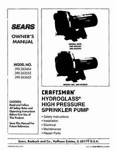 Craftsman Water Pump 390 262653 User Guide