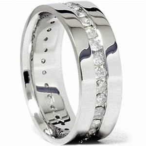 mens 1 1 10ct diamond eternity comfort wedding band 14k With man s wedding ring with diamonds