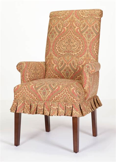 skirted parsons chairs with arms chilmark skirted arm chair hostess chair