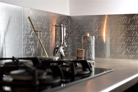 credence cuisine imitation carrelage plaque aluminium déco design autocollante metaldecor com