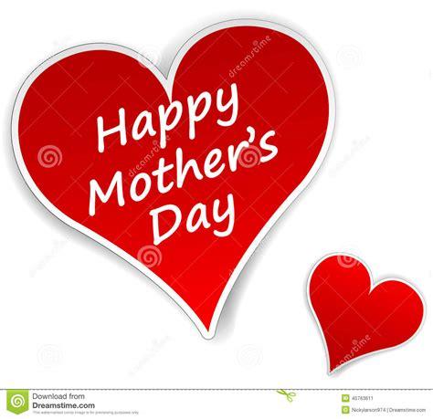 corazon es para dia de las madres corazones d 237 a de madres ilustraci 243 n vector