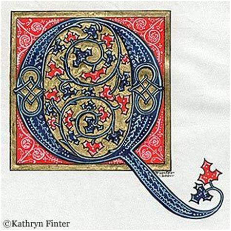 kathryn finter contemporary manuscript illumination illuminated letters illuminated