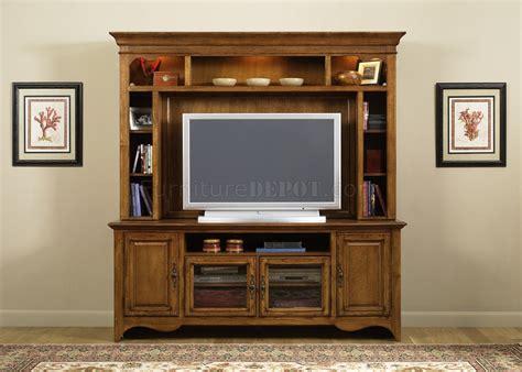 medium oak finish entertainment unit