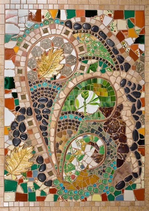 hand  mixed media mosaic wall art  tina shoys