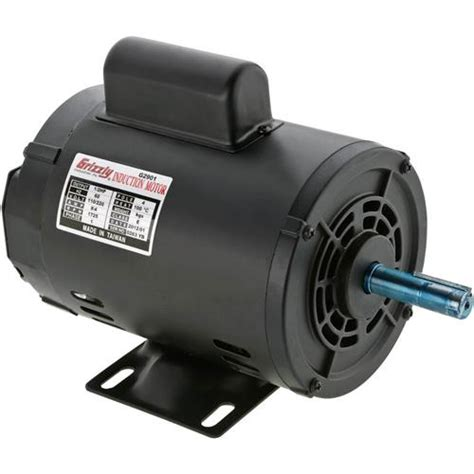 110v Electric Motor by G2901 Grizzly Motor 1 2 Hp Single Phase 1725 Rpm Open 110v