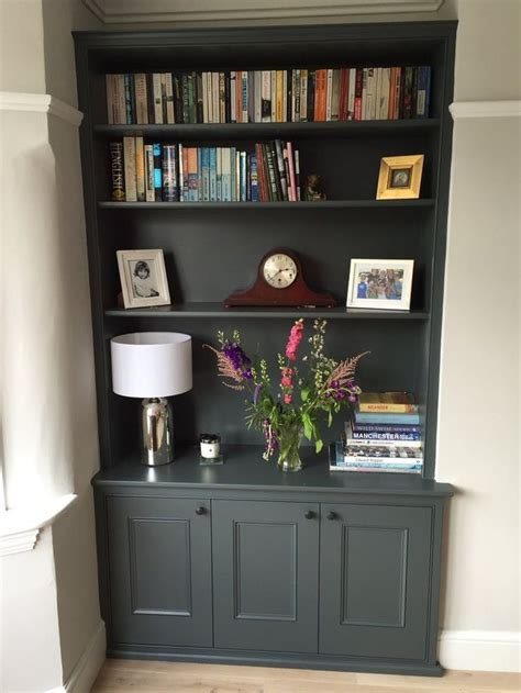 image result  built  bookcase alcove charcoal