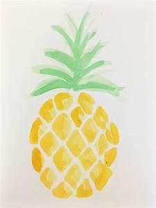 Art by Meghan Moran — Pineapple, Watercolor