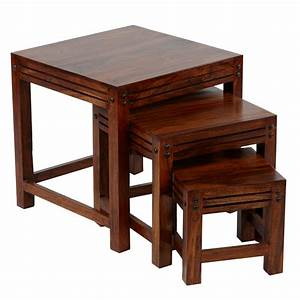 sheesham srf108395ar nest of coffee tables wood set of With set of three coffee tables