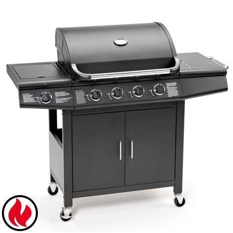 gasgrill bbq grillwagen 4 edelstahl brenner gas grill seitenkocher neu schwarz ebay