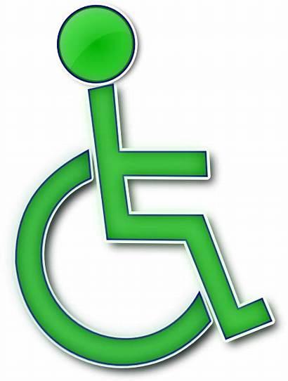 Handicap Clip Symbol Wheelchair Sign Clipart Handicapped
