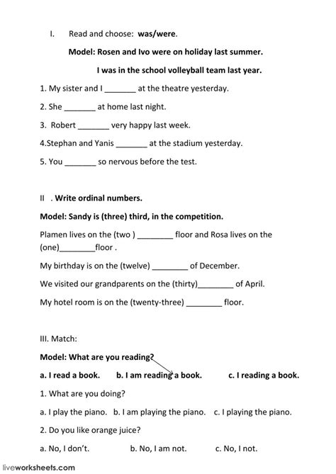 exercises interactive worksheet   worksheets