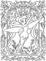 Coloring Disney Pages Adults Tinkerbell sketch template