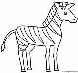 Coloring Zebra Animals Zebras Print Activity sketch template