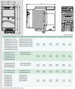 Delta Vfd Ac Drive 1 Phase 220v 1 5kw 2 Hp Vfd015e21a