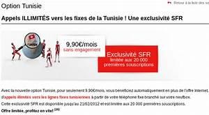 Numero Appel Sfr : sfr reconduit l 39 option appels illimit s vers la tunisie depuis la neufbox ~ Medecine-chirurgie-esthetiques.com Avis de Voitures
