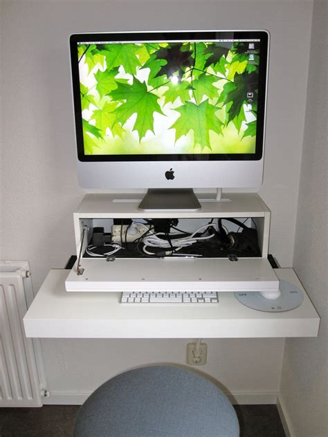 mac de bureau bureau apple mac ikea hack tuxboard