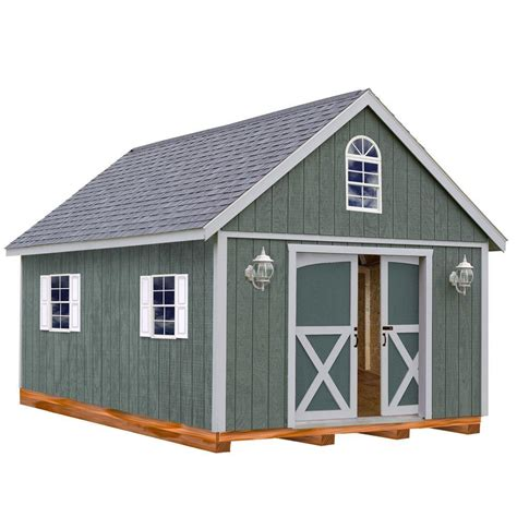 storage sheds home depot best barns belmont 12 ft x 24 ft wood storage shed kit