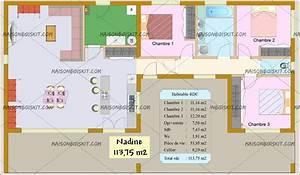plan maison 80m2 2 chambres plan de maison gaia archives With plan maison bois plain pied 4 chambres