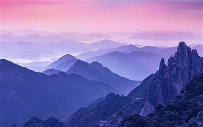 Foggy Mountains Morning Sky Wallpapers Desktop Mountain