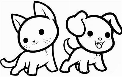 Coloring Pages Animal Dog Cat