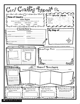 cool country report fill  poster printable graphic