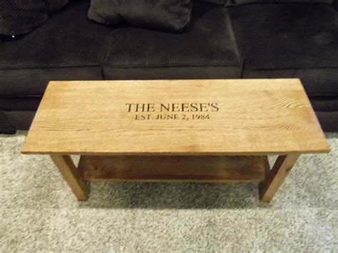 Wedding Bench Guest Book Signature Bench Oak Or Hickory