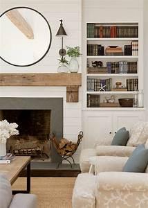 Brick, Fireplace, Mantle, 121, U2013, Decorathing
