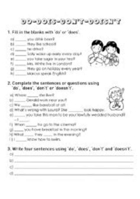 auxiliary verbs do does exercises pdf teaching