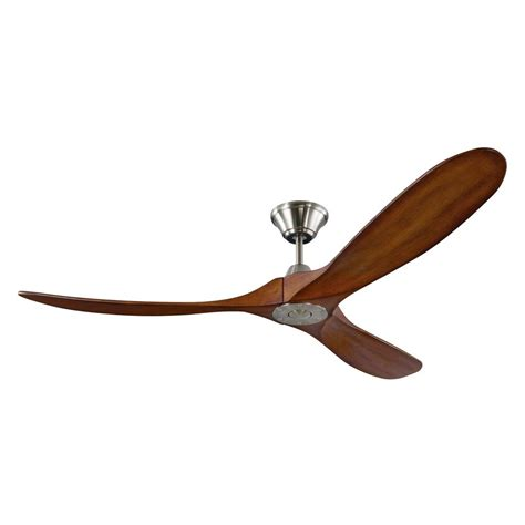 outdoor metal ceiling fans monte carlo maverick 60 in indoor outdoor brushed steel