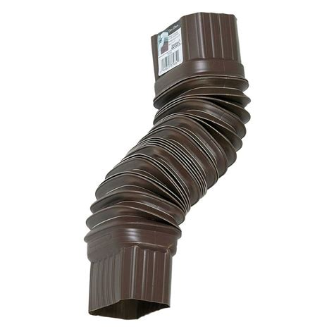 Extensions Kitchen Ideas - amerimax home products brown flex elbow 3708419 the home depot