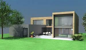 Maison Bois Contemporaine : maison contemporaine bois et beton my dreamin 39 house pinterest maisons contemporaines ~ Preciouscoupons.com Idées de Décoration