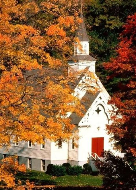 country church   beauty  autumn  doesnt