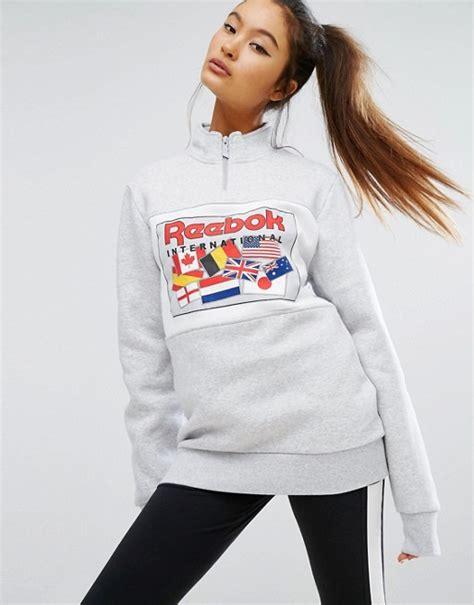 reebok reebok classics  zip oversized sweatshirt