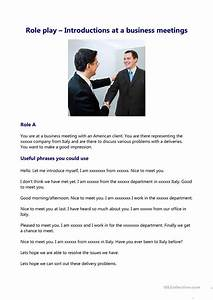 Esl Students Introductions At A Business Meeting Worksheet Free Esl
