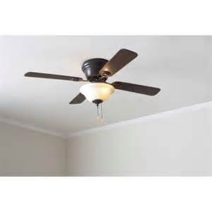 mainstays 42 quot ceiling fan with bowl light kit bronze 17820 walmart