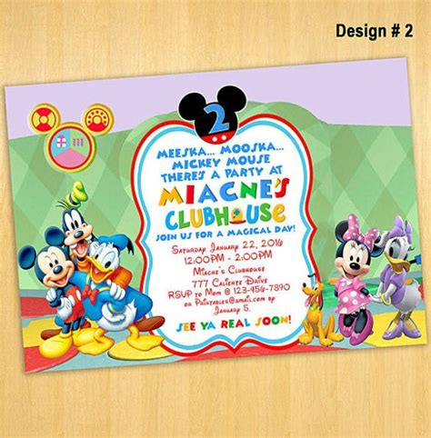 mickey mouse invitation template  premium