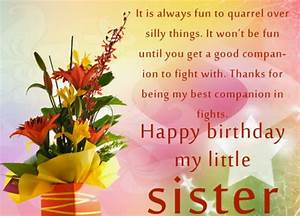 Happy Birthday Card for Little Sister ~ Send Everyday