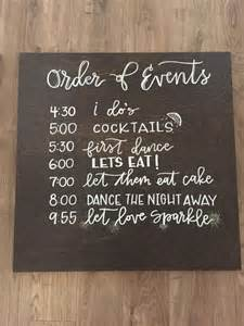 wedding schedule of events wedding order of events timeline sign by oldcitycalligraphy 10 years wedding