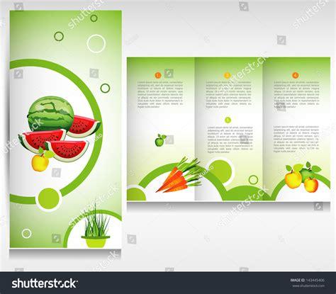 Flyer Brochure Design Template Abstract Fruit Stock Vector Food Brochure Design Health Bio Fruit And Vegetable