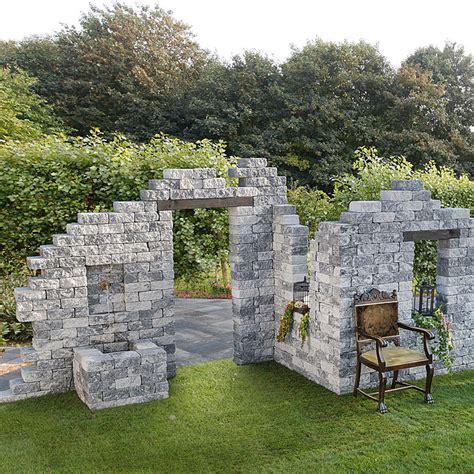 beton mauersteine in natursteinoptik ehl antikmur ruine gross grau anthrazit 577 x 233 x 230 cm bauhaus