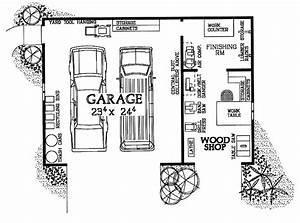 Woodshop & Garage Combo (HWBDO08032) House Plan from