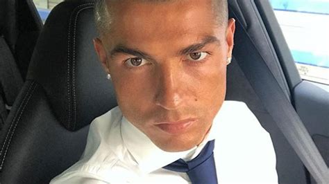 ronaldo ditches  frosted tips    hairstyle