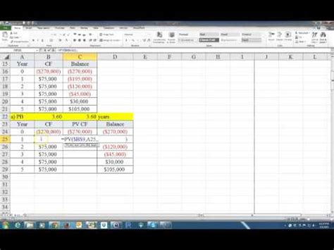 calculate  payback period   discounted