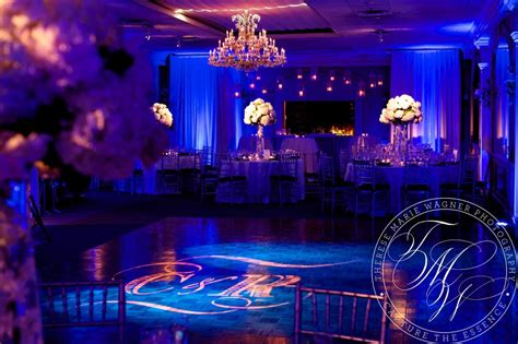 bold elegant wedding lighting  draping   bernards